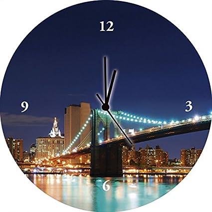 Reloj de pared impresión Digital en vidrio de pulsera de calidad bajo ruido Artland Songquan Deng