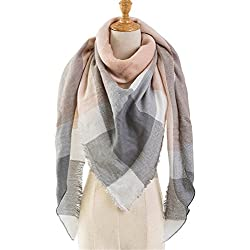 Special Beauty Nice Black Plaid Winter Scarf Women NEW Luxury Warm Cashmere Scarves and Shawls Large Triangle Pashmina Blanket Wraps A11