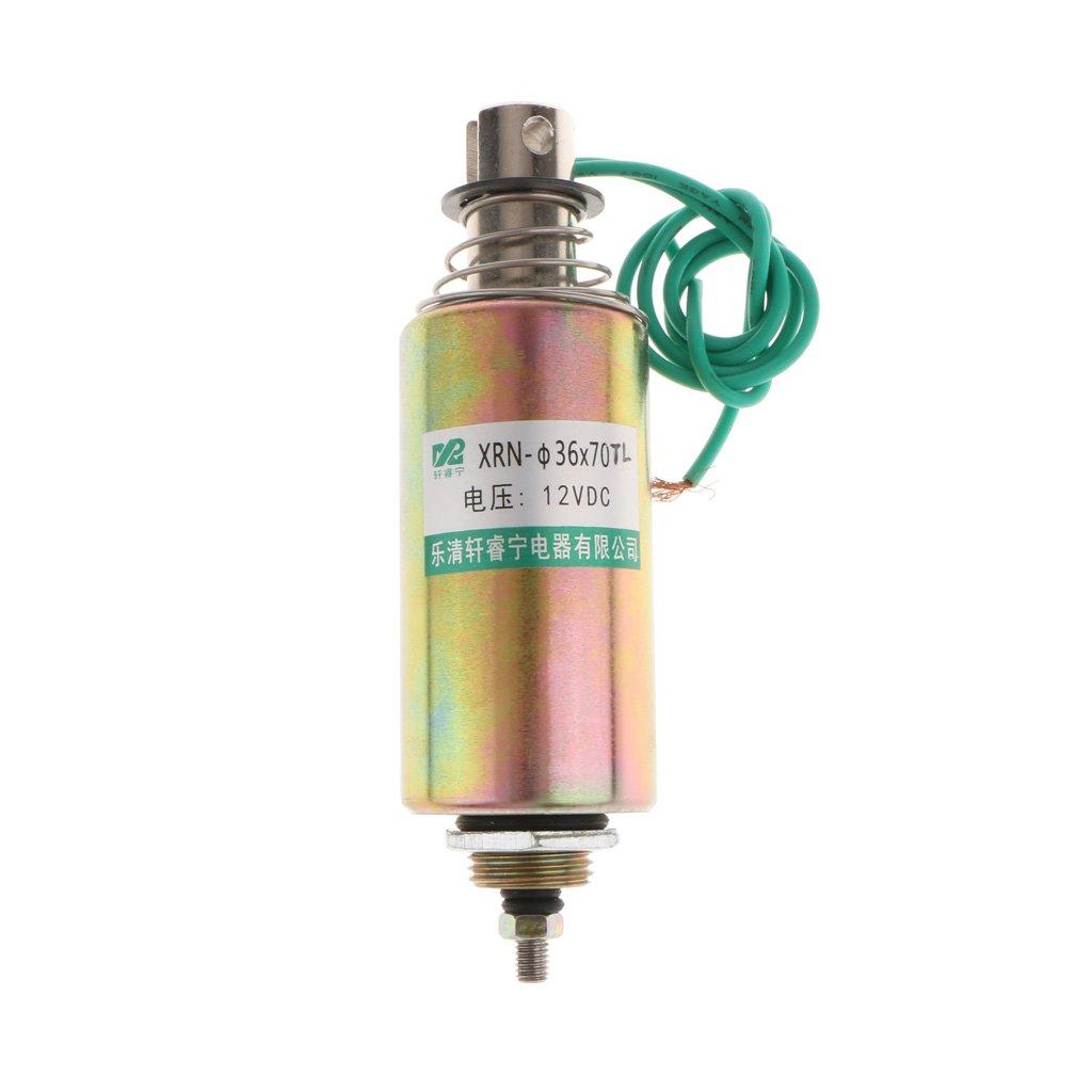 Jili Online DC 12V 10mm Stroke 1kg Force Push Pull Type Tubular Solenoid Electromagnet