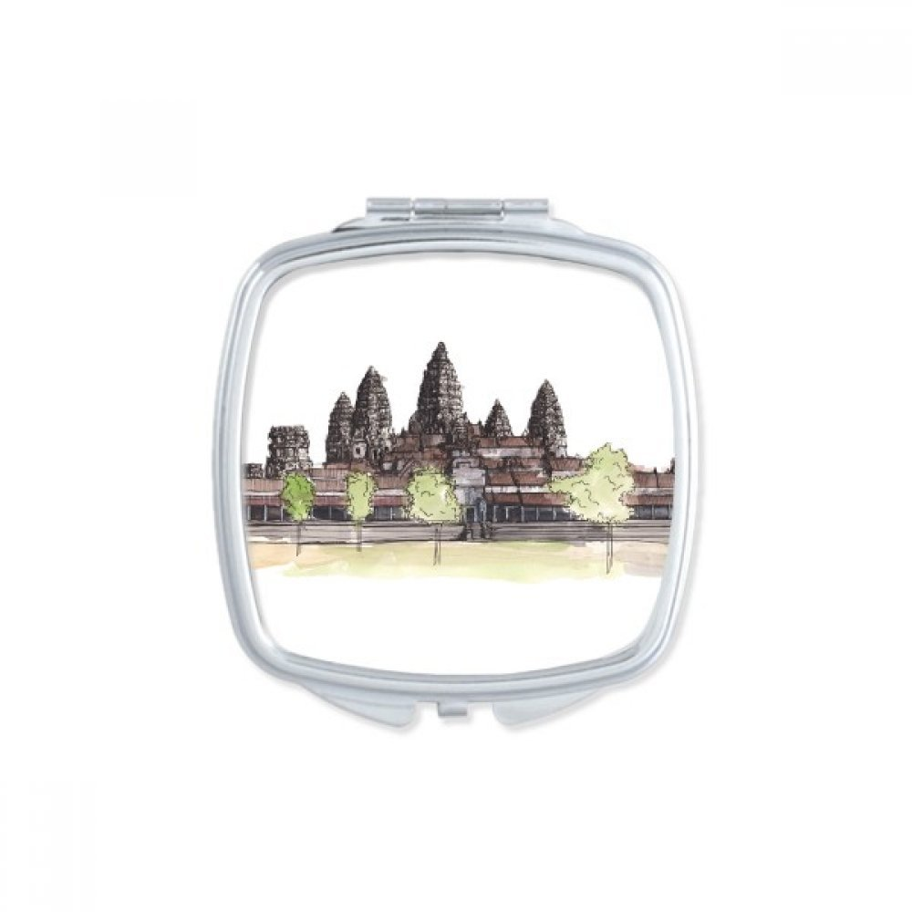 DIYthinker Angkor Wat in Asia Square Compact Makeup Pocket Mirror Portable Cute Small Hand Mirrors Gift