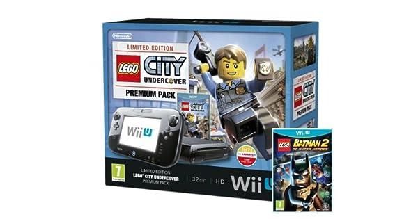 Nintendo Wii U 32Gb Lego City: Undercover Premium Pack - Black With Lego Batman 2: Dc Superheroes (Nintendo Wii U) [Importación Inglesa]: Amazon.es: Videojuegos