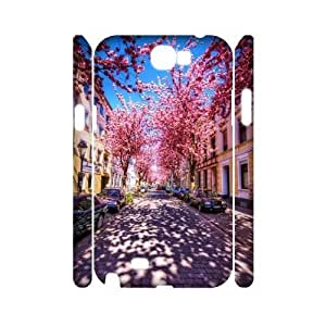 ZK-SXH - Cherry blossoms Brand New Durable 3D Cover Case Cover for Samsung Galaxy Note 2 N7100, Cherry blossoms Cheap 3D Case