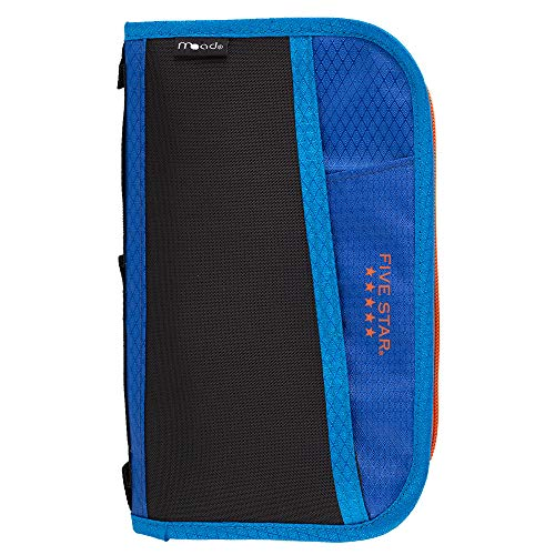 Five Star 3 Ring Binder Multi-Pocket Pencil Pouch - Blue (50162)]()