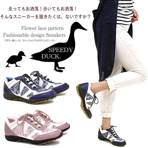 デザインスニーカー 靴 レディース 歩きやすい ウォーキングシューズ レースアップ レース刺繍