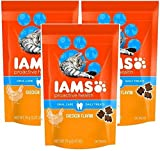 IAMS Proactive Health Oral Care Chicken Flavor Daily Treats for Cats, 2.47 Oz (Pack of 3)