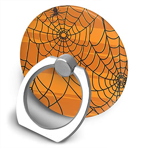 Janeither Circular Cell Phone Stand Scary Halloween Spiders Graphics Finger Ring Stand Holder - Finger Grip Kickstand 360¡« Rotation Fit iPhone XR/iPhone Xs Smartphones]()