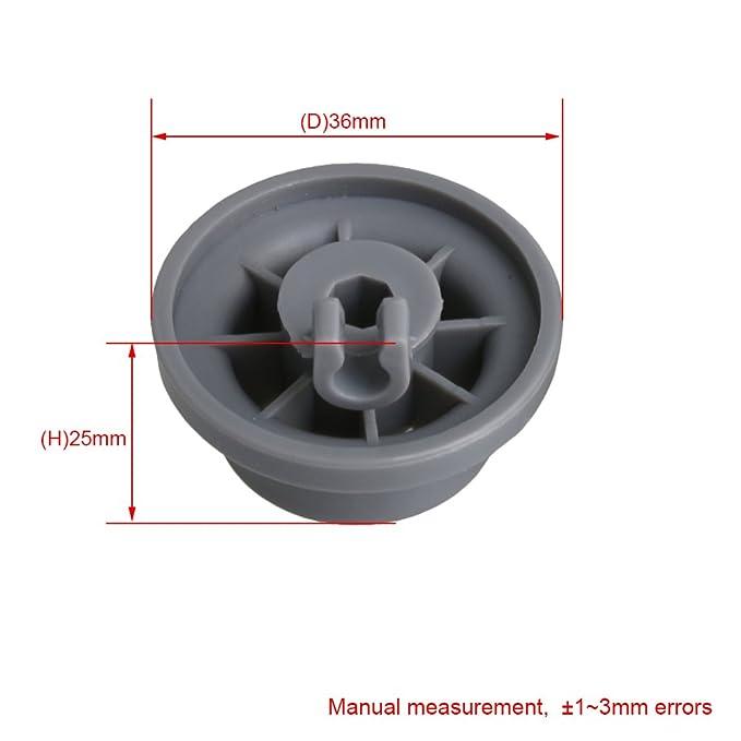 BQLZR 165314 - Rueda de plástico para lavavajillas (36 x 25 mm, 8 ...