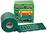 CanDo 10-5923 AccuForce Exercise Band, 50 yd Roll, Green-Medium