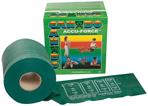 CanDo 10-5923 AccuForce Exercise Band, 50 yd Roll, Green-Medium by Cando