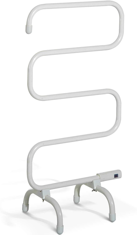 Homcom – Radiador toallero eléctrico de pie de 19 W, 19 ℃-19 ℃, 19 x 19 x  19 cm. De acero, color crema