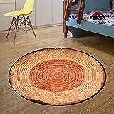 AiseBeau Comfort Flannel Cartoon Round Kitchen Rug Comfort Round Kitchen Floor Mat Non-Slip Round Floor Mat Soft Entrance Mat Door Mat 4'