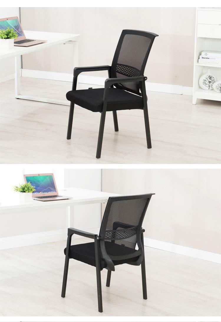 Zhou-WD hotellstol, slitstark andningsbar stol lätt att rengöra stol sovrum stol vardagsrum stol hem stol matstol kontor möbler (färg: Blå) BLÅ