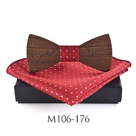 Pajaritas De Madera Traje de corbata de lazo de madera Bufanda ...
