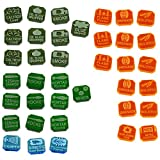 LITKO Gaslands Miniatures Game Weapons Tokens Set, Multi-Colored (38)