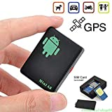 elegantstunning Mini A8 GPS Tracker Locator Car Kid Global Tracking Device Anti-Theft Outdoor Safety Equipment (Black)