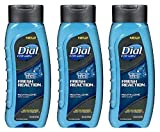 zero dial - Dial For Men Revitalizing Body Wash - Fresh Reaction - Sub Zero - Net Wt. 16 FL OZ (473 mL) Each - Pack of 3