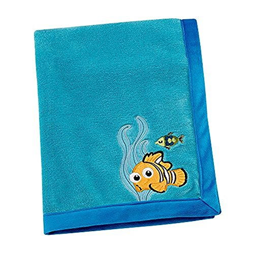 Disney Finding Nemo Appliqued Coral Fleece Blanket, Blue]()