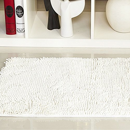 Isinotex Floor Mat Soft Shaggy Water Proof Footcloth Bathroom Bath Mat Floor Carpet Chenille Mat 1Pcs Lot