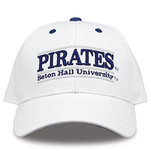 The Game NCAA Seton Hall Pirates Unisex Nckname bar Design Hat, White, Adjustable ()