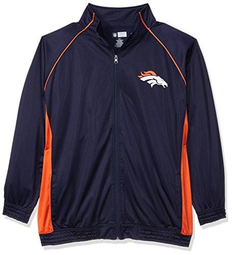 NFL Denver Broncos Women POLY TRICOT TRACK JACKET, NAVY/ORANGE, (Poly Tricot Jacket)