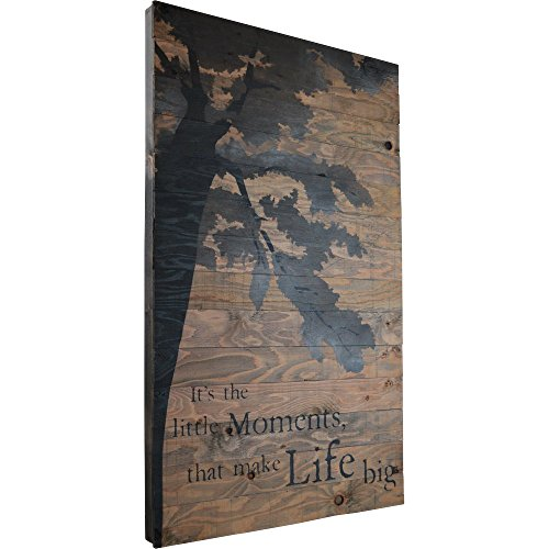 IT'S THE LITTLE MOMENTS THAT MAKE LIFE BIG RUSTIC BARN WOOD PALLET SIGN. 26