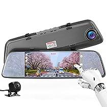 ドライブレコーダー バックミラー型 前後カメラとも170度広角 1080PフルHD 7インチタッチパネル Gセンサー HDR夜視機能/前後録画/駐車補助/駐車監視/エンジン連動/常時録画/ループ録画/取付簡単 デジタルインナーミラー ドラレコ デュアルドライブレコーダー