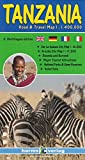Tanzania - Rwanda - Burundi, Road and Travel Map (English, French and German Edition)