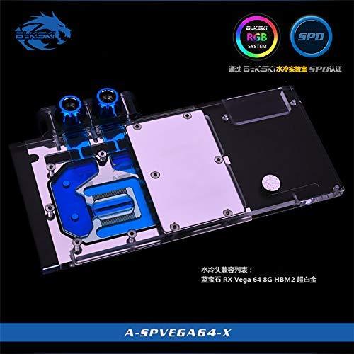 Bykski A-SPVEGA64-X RBW RGB Led GPU Water Cooling Block for Sapphire Nitro+ RX Vega 64 8G HBM2 ()