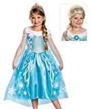 Disney Frozen Deluxe Elsa Costume With Tiara and Wig