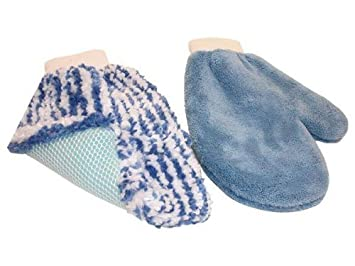 ee9951626e722 Oxford Wash and Wax Cleaning Mitts - Blue  Oxford  Amazon.co.uk ...