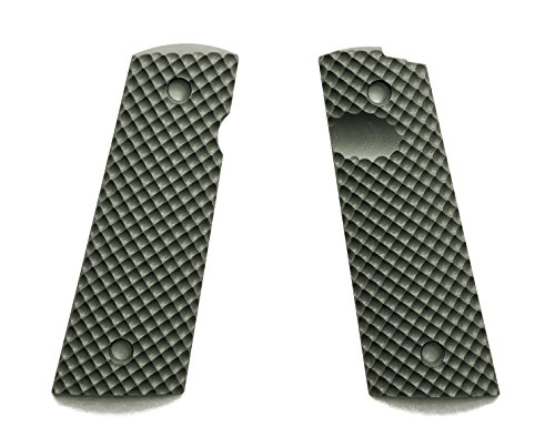 E Gun Grips H1M-J7M-2 Beautiful G10 Tactical Pistol Grips with Magwell Cut for Full Size 1911 Handguns, Olive