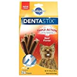 PEDIGREE DENTASTIX Beef Flavor Toy/Small Treats for Dogs - 6 Ounces
