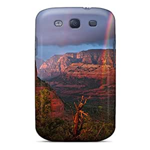 Tpu Fashionable Design Rainbow Over Red Rock Desert Rugged Case Cover For Galaxy S3 New