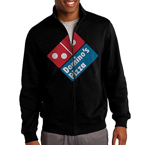jacob-mens-sweatshirt-the-domino-pizza-logo-full-zip-hoodie-jacket-l-black