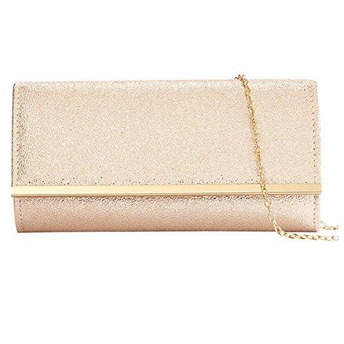 HMaking Gold Clutch, Evening Bag Retro Dinner Bag Handmade Handbag