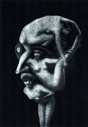 Head Postcard (Nude Women Make Head - 3D Lenticular Postcard Greeting Card - Metamorphic Head)