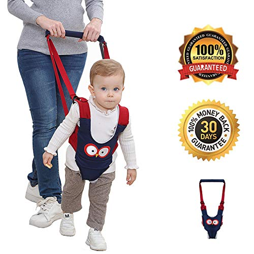 Baby Walker Assistant with Crotch, Handheld Toddler Walking Harness, Stand and Walking Learning Helper for Kids,4 in 1 Functional Safety Walker Activity Center for Baby 6-24 Months