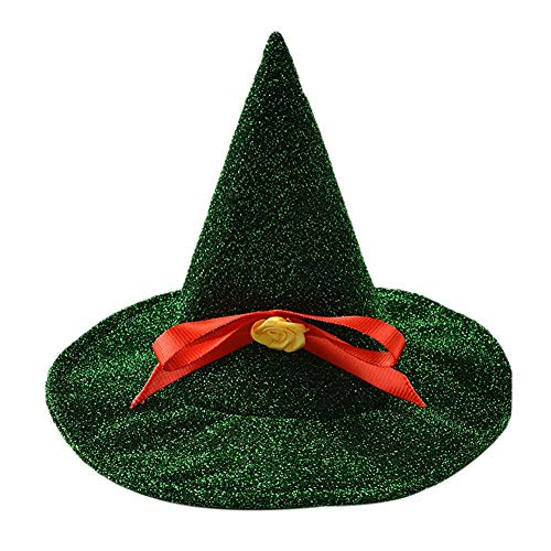 Tutuba Small Dog Halloween Witch Hat Pet Accessory]()