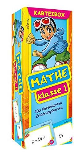 Karteibox Mathe Klasse 1: mit farbigen Karteikarten
