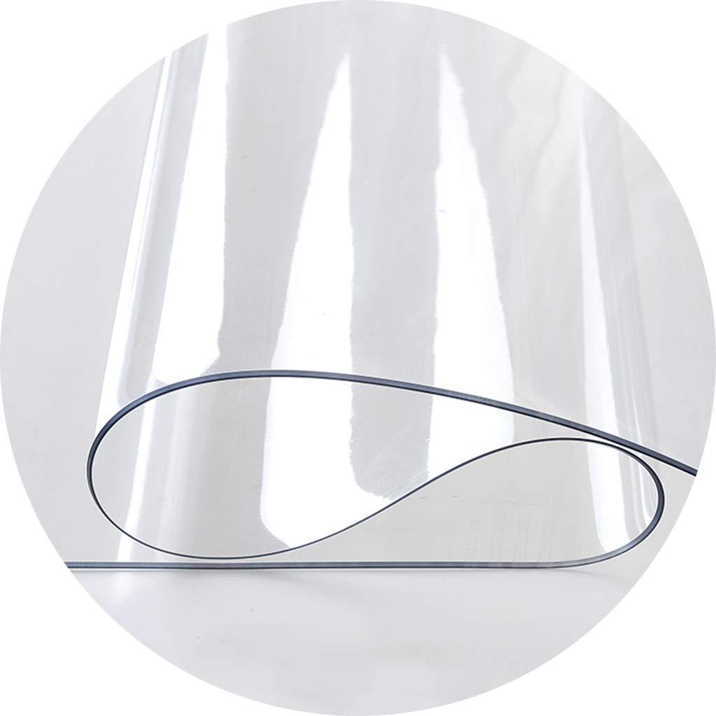 テーブルのコーヒーテーブル-3mmのための透明なポリ塩化ビニールのテーブルクロス、防水および防油のデスクトップの保護装置 CFJRB (Color : PVC, Size : 90X160cm) 90X160cm PVC B07SL3LGQ2