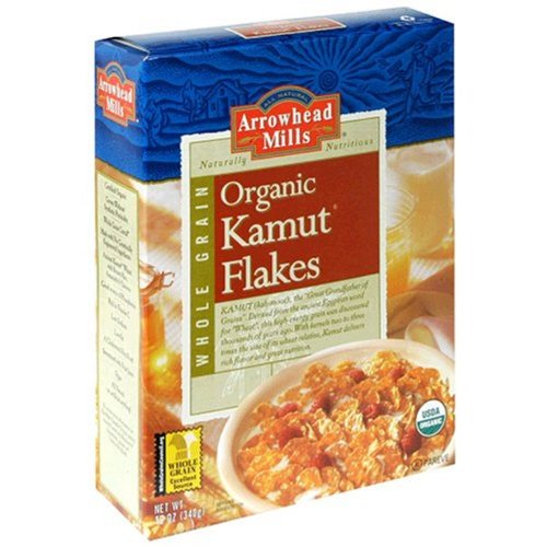 Arrowhead Mills Organic Cereal, Kamut Flakes, 12 Ounce (Pack of 12)