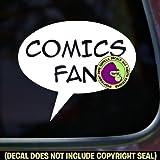 COMICS FAN Zine Club Comic Book Vinyl Decal Bumper Sticker Car Laptop Wall Sign WHITE