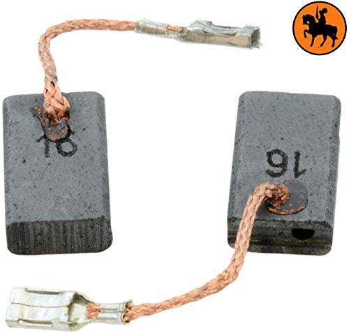 5x10x16mm 2.0x3.9x6.3 Avec arr/êt automatique Balais de Charbon pour BOSCH GWS 9-125 meuleuse