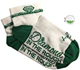 Giggle Golf Women's Golf Sock Pack - Pair Of Diamond In The Rough Socks & A Bling Ball Marker With Hat Clip