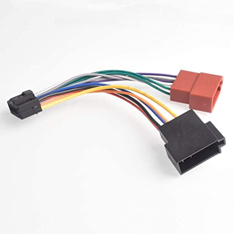 Amazon.com: 16Pin Car Stereo Radio Harness ISO for Alpine ... on jvc wiring harness diagram, 7-way trailer wiring adapter, jvc kd r210 wiring-diagram, jvc headunit wiring-diagram, jvc steering wheel adapter, jvc kd r300 wiring harness, jvc kd s26 wiring harness, jvc wiring harness color coating,