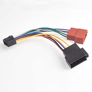 amazon com 16pin car stereo radio harness iso for alpine jvc radio  jvc wiring harness adapter #9