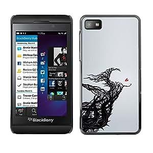 """For Blackberry Z10 Case , Corazón Significado Profundo gris Poder Negro"""" - Diseño Patrón Teléfono Caso Cubierta Case Bumper Duro Protección Case Cover Funda"""