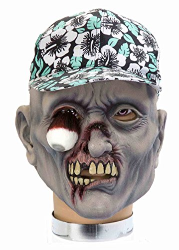 Forum Novelties Zombie Mask with Hat, Percy - Hillbilly Mask