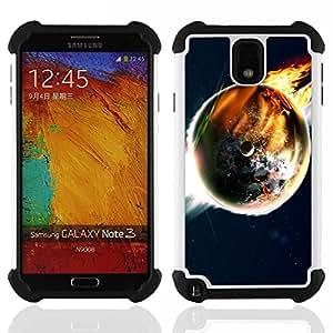 - Space Planet Galaxy Stars 50 - - Doble capa caja de la armadura Defender FOR Samsung Galaxy Note3 N9000 N9008V N9009 RetroCandy