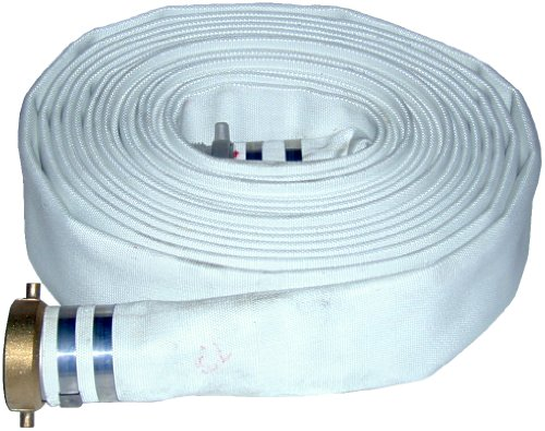 JGB Enterprises Eagle Hose Eagleflo Eagle Mill Polyester Discharge Hose Assembly, White, 1.5